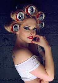 coke in curly hair 166 best cans used as rollers images on pinterest hairstyle