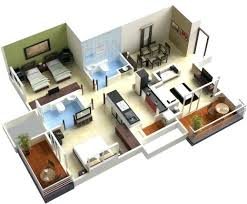 3 bedroom floor plan 3 bedroom house plans 3d fascinating more 3 bedroom floor plans