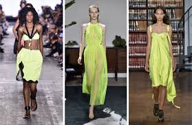 spring 2017 fashion trends from york fashion week neon colors
