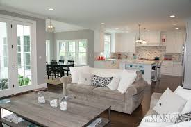 living room open floor plan living room basement with dining and