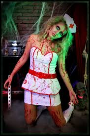 Bloody Nurse Halloween Costume Scary Halloween Costumes Science Laboratory Halloween