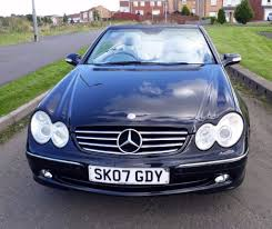 immaculate 2007 mercedes clk 320 avantgarde auto convertible