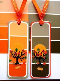 halloween bookmarks castellon u0027s kitchen paint chip bookmarks