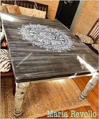 kitchen stencils designs stencil a wood table with a mandala pattern stencil stories