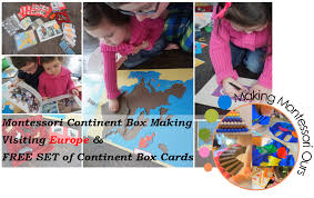 Do Continents Have Flags Montessori Continent Box Making Europe