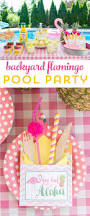 summer backyard flamingo pool party ideas the polka dot chair