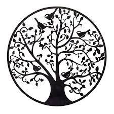 Wall Decor Metal Tree Bayaccents Round Metal Tree Branches And Birds Wall Décor