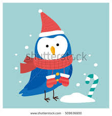 vector holiday christmas greeting card cartoon stock vector