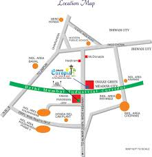 Bahadurgarh Metro Map by Omaxe Green Meadow City Plots In Bhiwadi