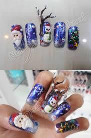 christmas nail art 3d by jutamart on deviantart