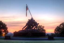 American Flag Sunset Iwo Jima Part 2