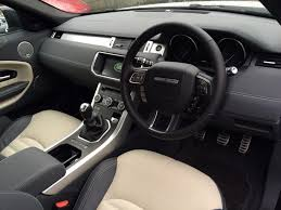 suv range rover interior in review small suv the range rover evoque