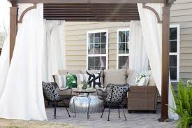 Curtains On Patio Patio With Pergola Design Ideas And An Outdoor Sectional Set