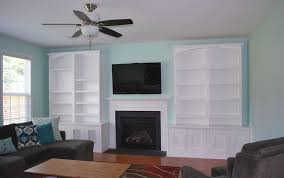 hand crafted built in entertainment center by carolina woodworking