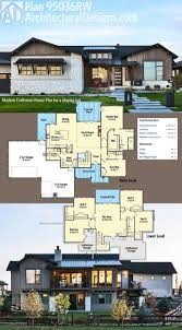 best images about homes for the sloping lot pinterest architectural designs modern craftsman house plan has great exterior and walkout lower level
