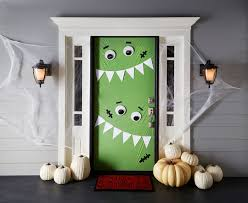 Minion Halloween Outdoor Decorations by Haunting Halloween Door Decorations Monster Door Decoration