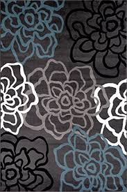 Area Rugs Contemporary Modern Contemporary Modern Floral Flowers Area Rug Wall S Furniture Decor