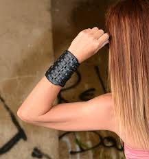 ladies leather strap bracelet images Wrist cuff leather wrist cuff leather cuff bracelet black wrist jpg