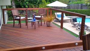 cable railing and hardwood decking modern deck san diego