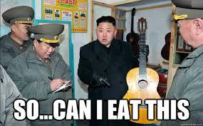 Kim Jong Un Snickers Meme - so can i eat this hungry kim jong un quickmeme