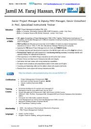 Oracle Dba Resume Example Pmp Resume Resume For Your Job Application