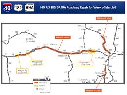 Map Of Arizona Highways by Pavement Repairs Continue On Northern Arizona Highways After Storm