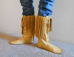 tall moccasin boots lace up moccasins custom handmade to