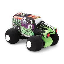 toy grave digger monster truck monster jam boy u0027s decorative pillow grave digger
