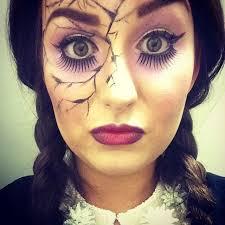 Beauty Halloween Costume Cracked Doll Makeup Popsugar Beauty
