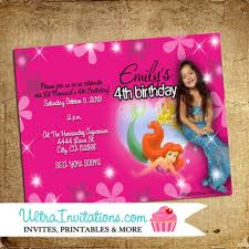little mermaid birthday party invitations ariel invitations