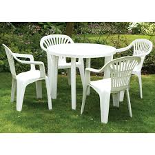 plastic round table and chairs patio furniture round table white plastic outdoor table and chairs