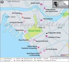 rizal park manila philippines map facts history location