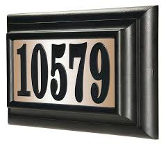 house number light box do it yourself personalized lighted house number sign kit