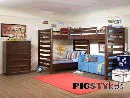 Bunk Bed Decorating Ideas Triple Bunk Beds For Kids Bedroom Furniture