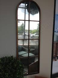 Metal Arch Wall Dressing Mirror Windowpane Tall Narrow
