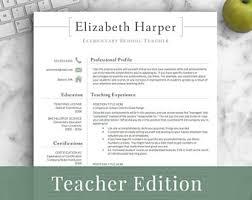 curriculum vitae template for teachers australia movie teacher resume etsy