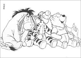 winnie tigger u0027s house coloring pages hellokids