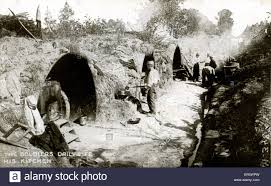 White Hut Kitchen by Ww1 Soldiers Cooking Food In Field Kitchen Outside Shelter At