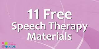 11 free speech therapy materials from speech and language kids