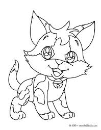 happy kitten coloring pages hellokids