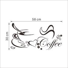 online shop coffee cup with heart vinyl restaurant kitchen wall