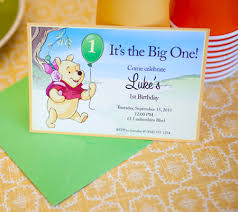 winnie pooh printable birthday party invitations disney baby