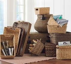 Pottery Barn Wicker 280 Best Baskets Images On Pinterest Basket Wicker Baskets And