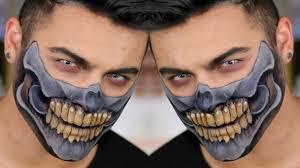 Half Skull Halloween Makeup by Mad Max Half Skull Makeup Tutorial Alex Faction Jordan Hanz