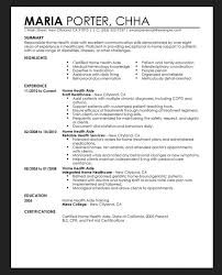 Home Health Care Aide Resume Sample by Home Care Aides Resume