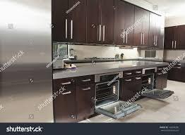 Empty Kitchen Interior Empty Commercial Kitchen Open Oven Stock Photo 149298200