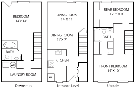 Townhome Floor Plan by Alexander Towne Mallard Green Apartments