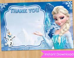 disney frozen card instant download elsa