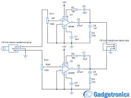 diy headphone amplifier circuit diagram using lm386 audio