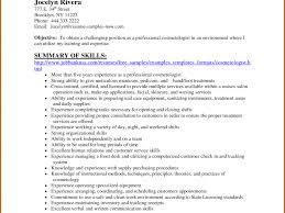 Hairdresser Resume Examples by Cosmetology Resume Examples Resume Example